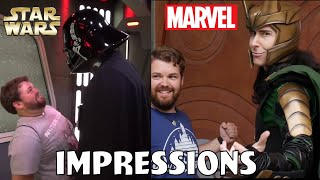 Disney Parks Impressions Star Wars and Marvel Compilation