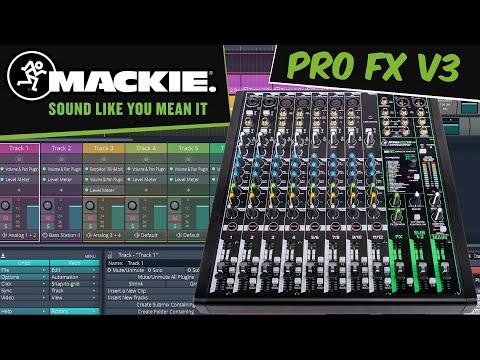 MACKIE Pro FX V3: te explicamos el uso como Interface de Audio de las mesas Mackie. Tutorial español
