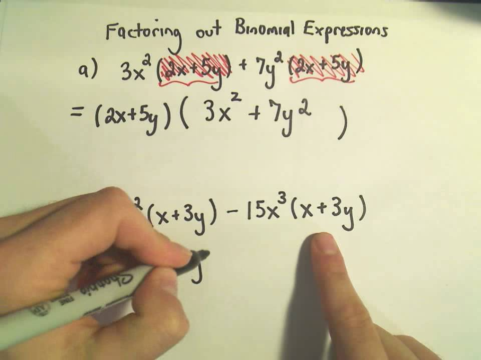 how to get rid of exponents using factoring