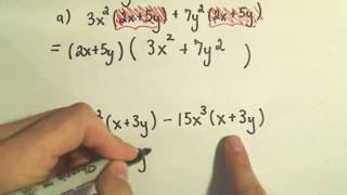 Factoring Using the Great Common Factor, GCF - Example 2 - Factoring Out Binomials