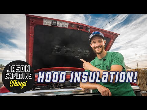 How To Install Truck Hood Insulation and Liner (First Gen Dodge Ram, Ramcharger)