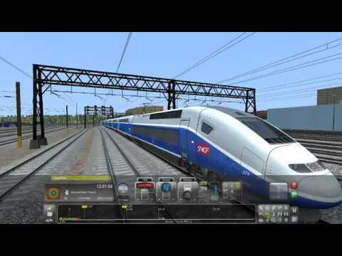 TRAIN SIMULATOR 2017  TGV HYPERSPEED  CRASHING 190Km/Hr..!!!!!!!! |
