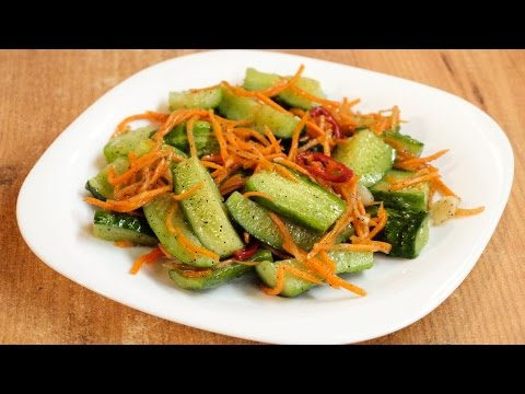 Огурцы по-корейски / Korean style cucumbers ♡ English subtitles