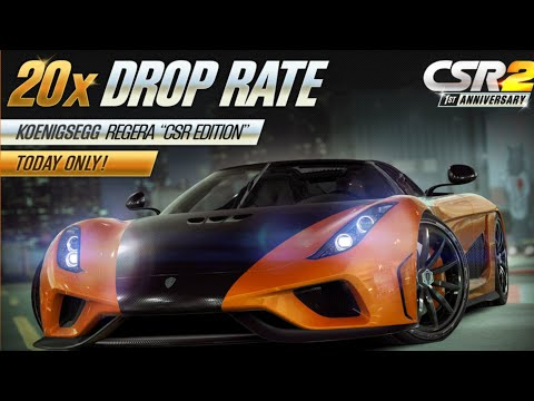CSR Racing 2 Koenigsegg Regera CSR Edition 20x DROP RATE