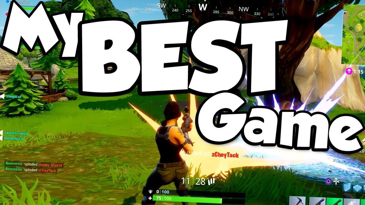 My Best Game Yet Fortnite Battle Royale