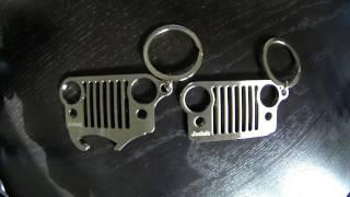 Premium Jeep Grill Keychain Bottle Opener Unique Best Jeep Keychain, Perfect Jeep Wrangler Keychain