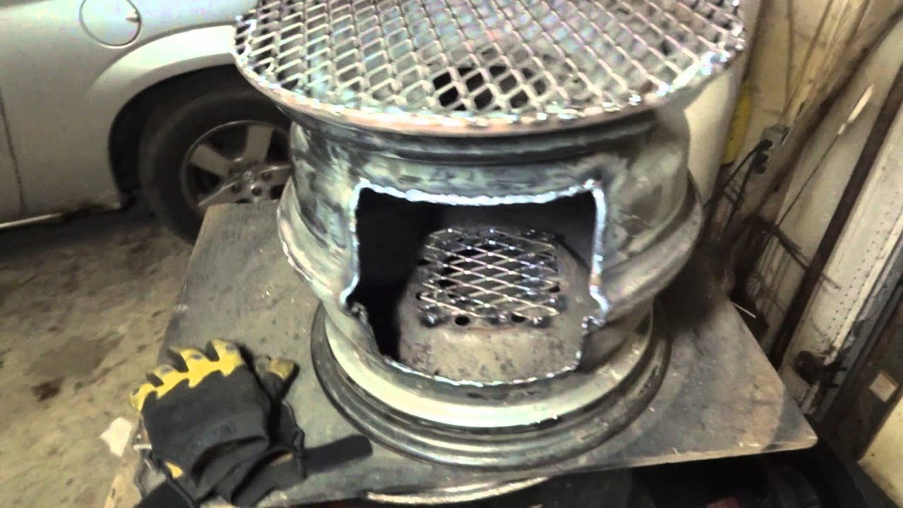 Steel Wheel Fire Pit / Cook Stove (Wheel Rim FirePit ...