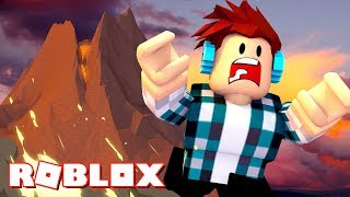 Roblox - FUJA DO VULCÃO !!