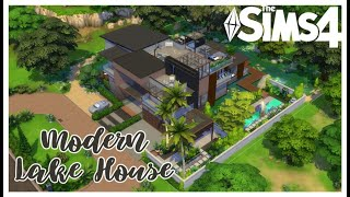Modern Lake House | No CC | Stop Motion Build | The Sims 4