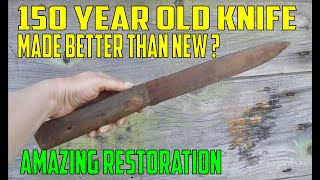 100 Year Old Knife tool  Restoration Perfect restoration filleting knife  ???