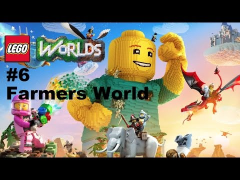 Lego Worlds: #6 Exploring Farmers World Ps4 Playthrough