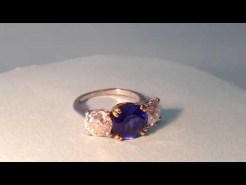Antique Boucheron Sapphire and Diamond Ring