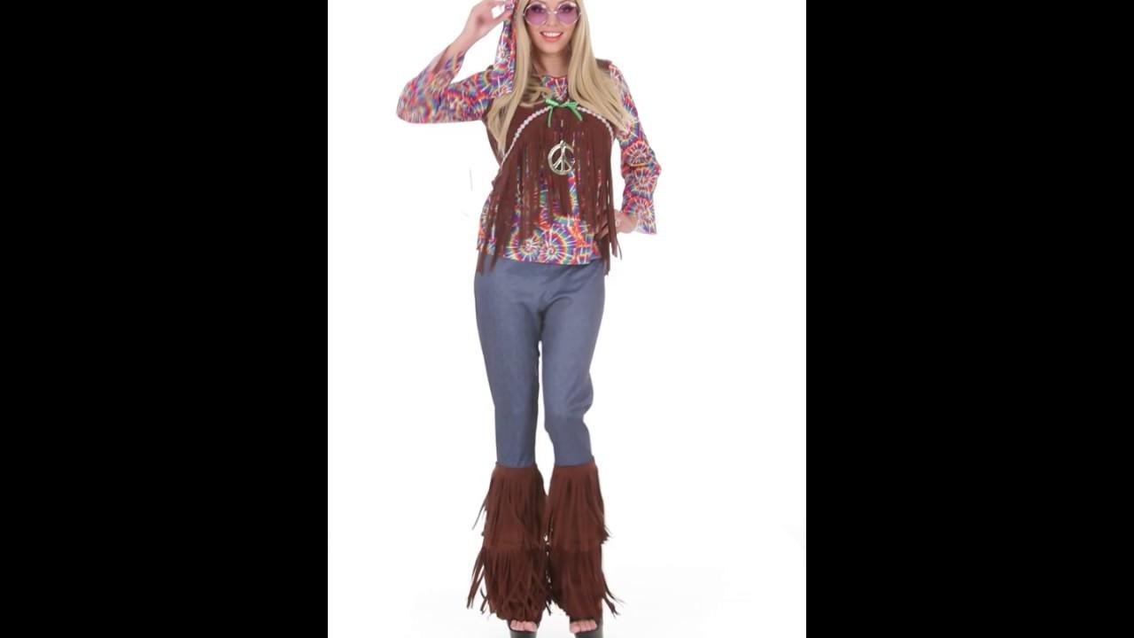 Disfraz de mujer hippie youtube for Disfraz de hippie