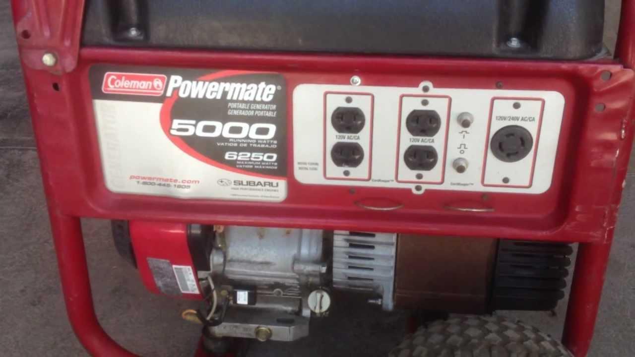 Generador de luz planta electrica 5000 6250 watts coleman - Generador electrico precios ...