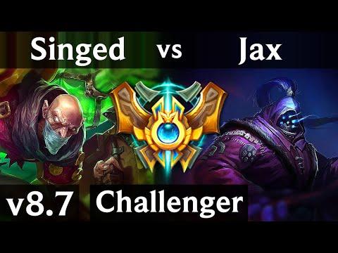SINGED vs JAX (TOP) /// Korea Challenger /// Patch 8.7