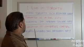 Speak Punjabi 03: Telling and Asking Names, Telling About Your City