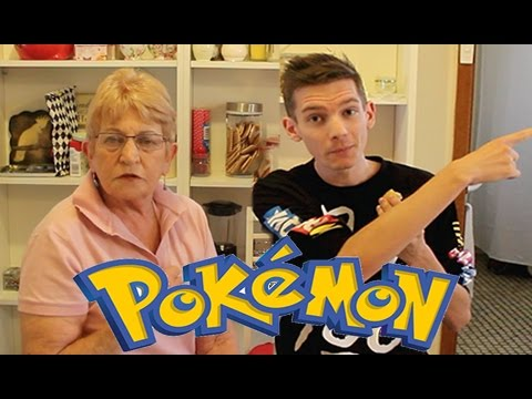 My Grandma Opens Up Pokemon Booster Packs!!