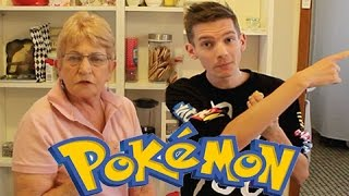 My Grandma Opens Up Pokemon Booster Packs!!