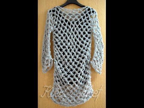 Πλεκτη Μπλουζα με Πλεξη Σολομον (μερος 2) / Crochet Solomon's Knot Shirt (part 2)