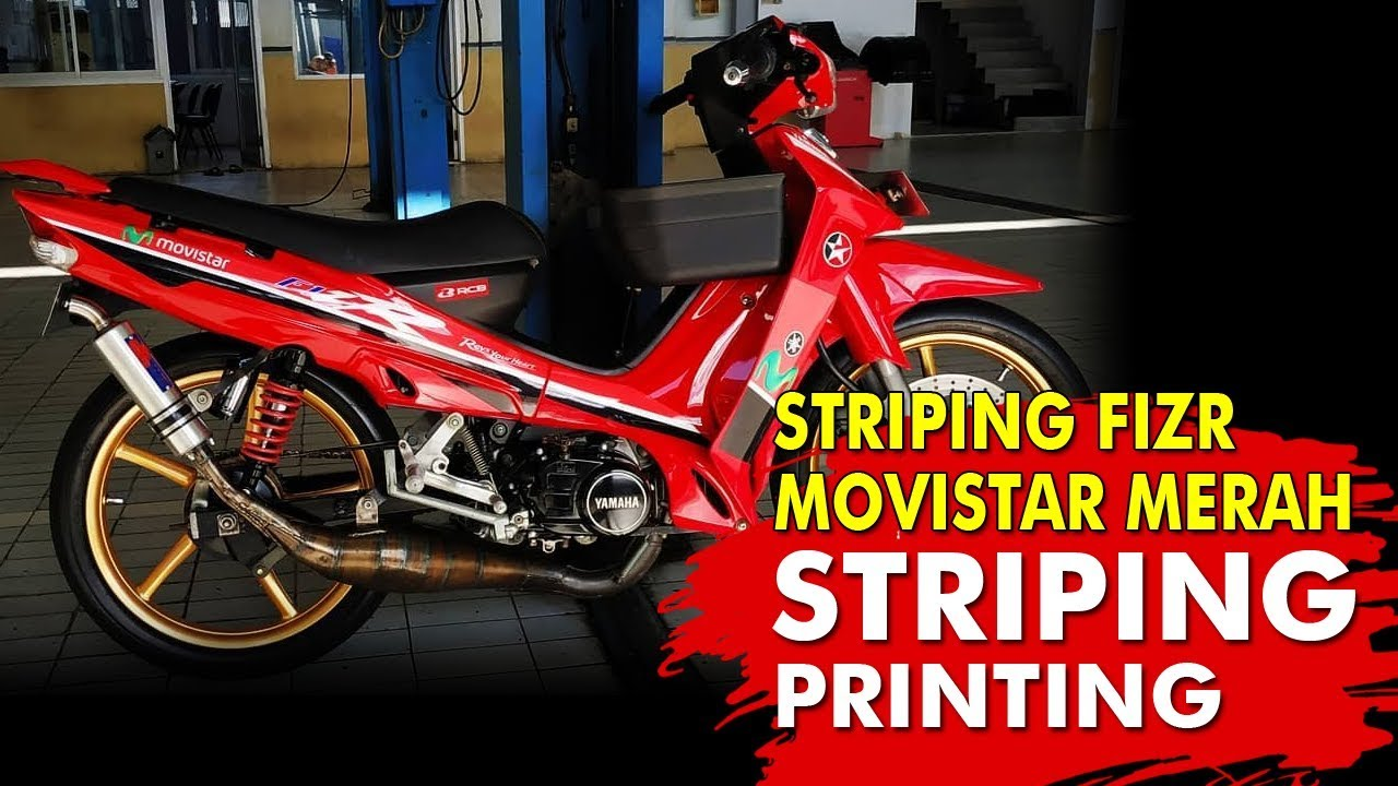 Striping Yamaha Fizr Movistar Merah By Deku Dekun