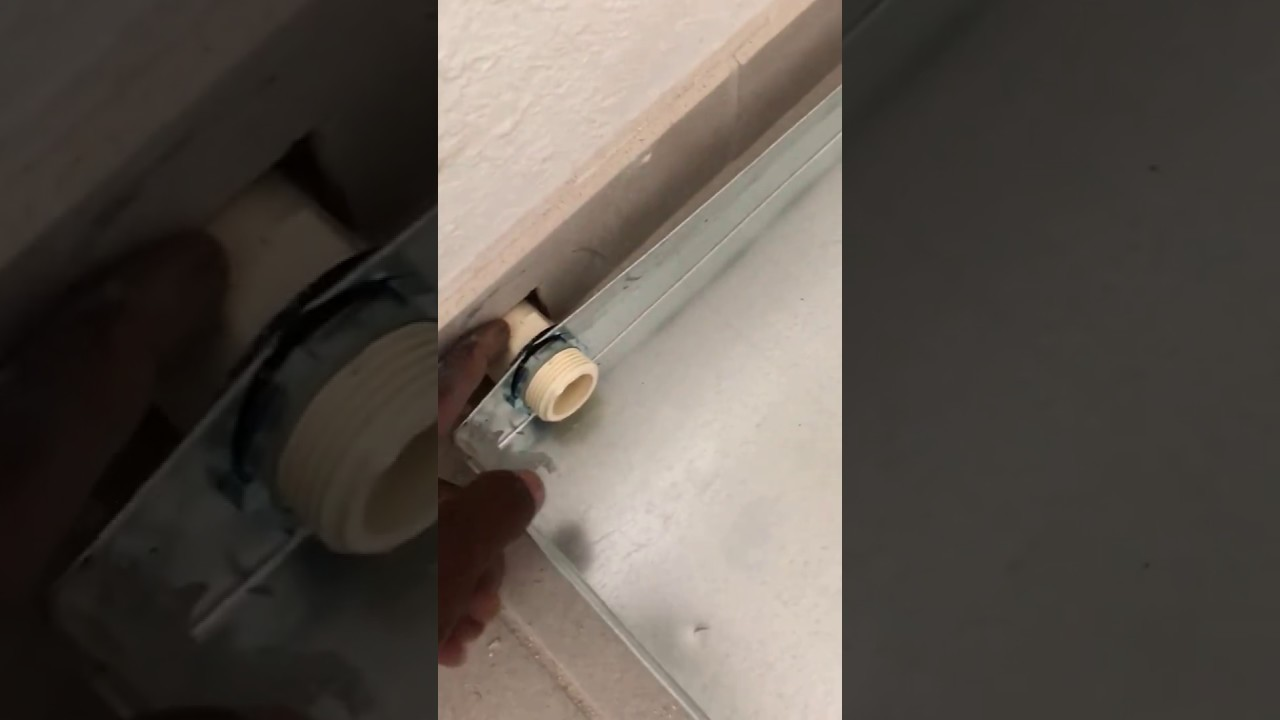 How To Install A Drain Pan And The Water Heater Youtube