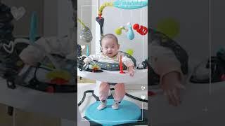 4개월 아기   조이 점퍼루 타다! 꺄르륵~*  이븐플…