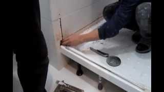 Демонтаж, монтаж душевого поддона!!!(Посмотри как одни рукож...пы устанавливают поддоны, а другие демонтируют его, чтобы установить душевое огра..., 2013-03-16T17:23:44.000Z)