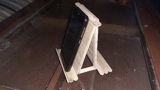 Cara membuat penyangga hp dari kayu stik es krim ide kreatif