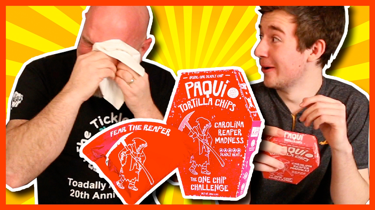 World's Hottest Tortilla Chip CAROLINA REAPER ONE CHIP CHALLENGE!!!