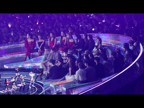 181201 BTS, GIDLE, MAMAMOO Reaction to BLACKPINK (블랙핑� 무대 보는 방탄소년단 마마무 여�아�들) 4K �캠 by 비몽