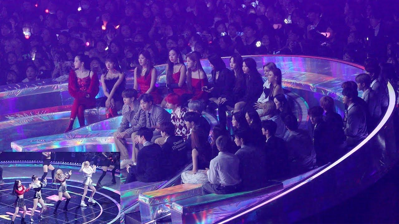 BTS, GIDLE, MAMAMOO Reaction to BLACKPINK (블랙핑크 무대 보는 방탄소년단 마마무 여자아이들) 4K 직캠 by 비몽