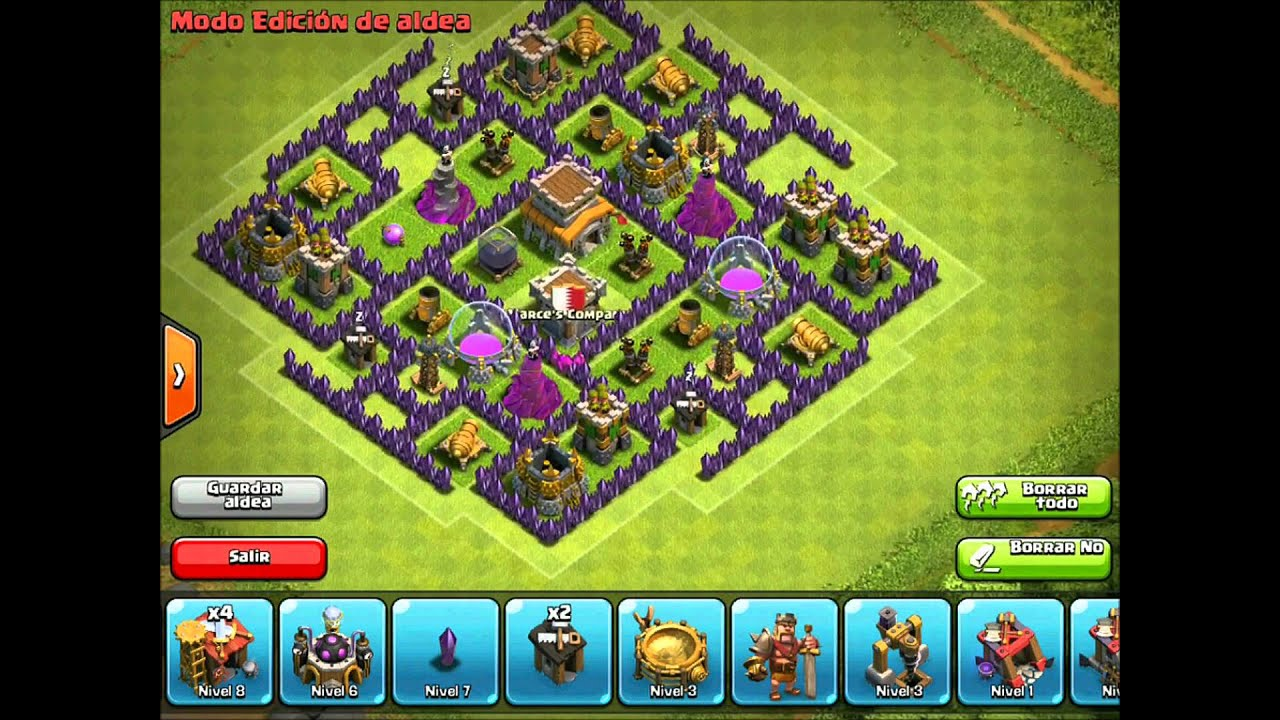 Clash of clans town hall 8 hybrid base design i youtube