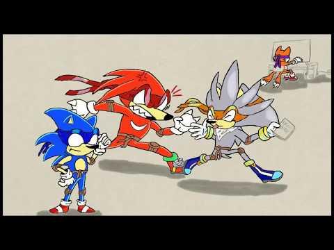 Art Academy: Atelier - Teenage Ninja Sonic Heroes with TMNT 2003 theme