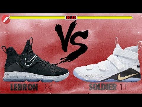 Nike Lebron 14 vs Lebron Soldier 11