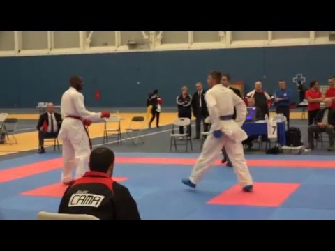 WKF Karate | Open International De Montréal 2016  | J. Mulolo (Finale Elites Seniors +75kg)