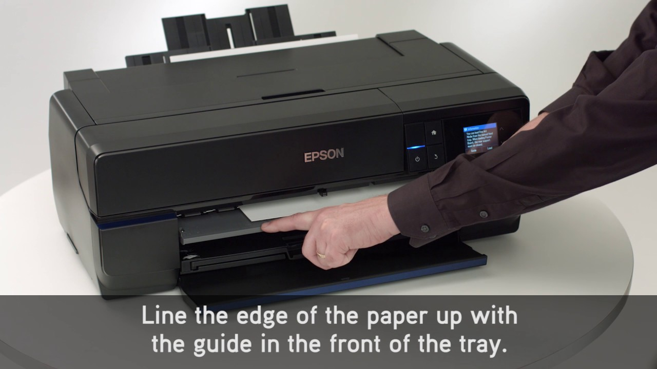 Epson SureColor P800 | Loading Fine Art Paper
