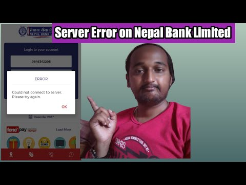 Server Error on Nepal Bank Limited Mobile Banking Service | Could Not Connect to Server