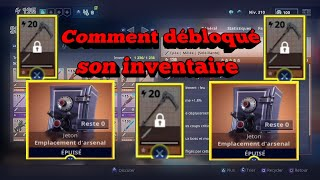 How to unlocked its inventory [fortnite save the world]