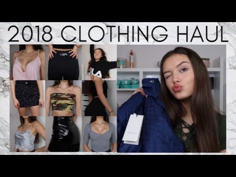 HUGE TRY-ON CLOTHING HAUL! GUCCI, BRANDY MELVILLE, TOPSHOP, PLT, DEPOP | India Grace