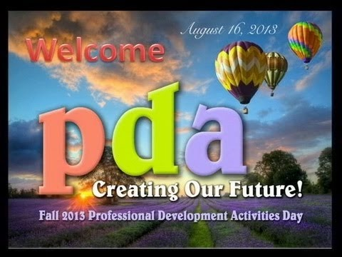 2013 Fall PDA- Welcome Back