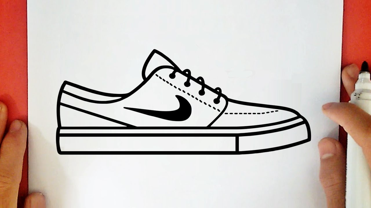 Comment Dessiner Une Chaussure Nike Youtube