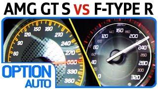 0 200 km h mercedes amg gt s vs jaguar f type r coup option auto