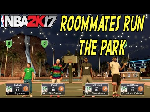 NBA 2K17 MyPark 4v4 W/ MyRoomates | We Beat A 98 OVERALL Player W/ 90 OVR Teammates