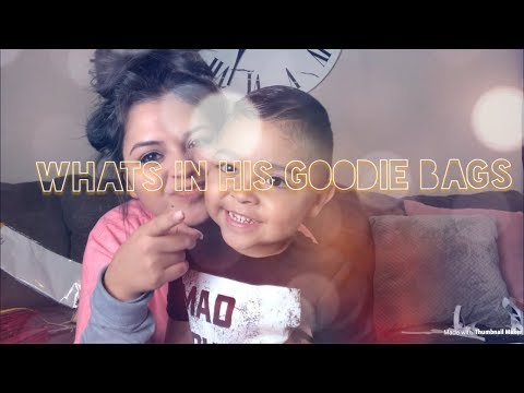 What's in Isaiah's goodie bagsmini haul