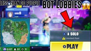 Wie man Fortnite BOT Lobbies mit weniger als 30 Spielern in Saison 10/X (Ps4/Xbox)