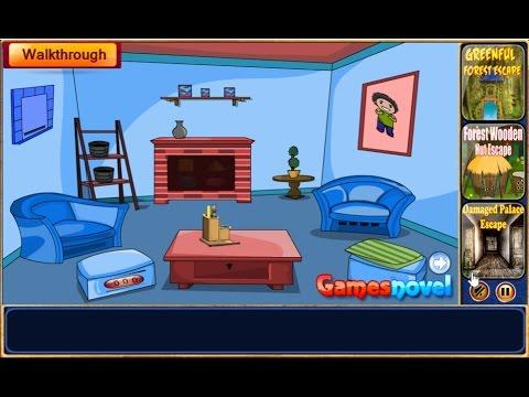 Locked Blue Room Escape GamesNovel Walkthrough FULL