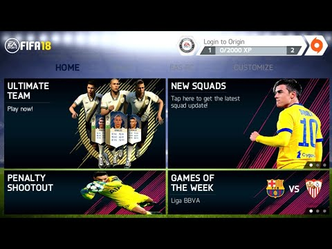 FIFA 14 Mod FIFA 18 Android Offline 800 MB New Menu Best Graphics