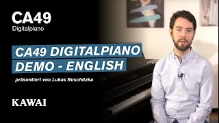 KAWAI CA49 Digital Piano DEMO - English