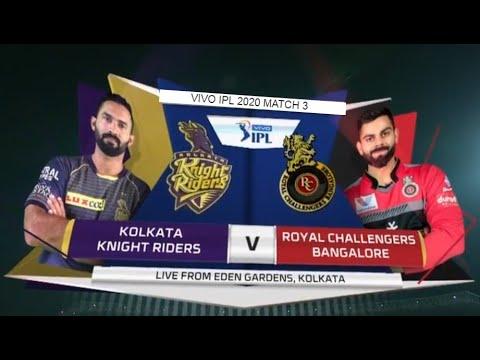 Match 3: KKR VS RCB highlights   Vivo IPL 2020   Cricket ...