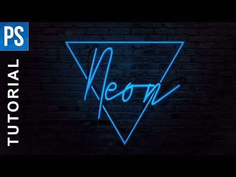 Photoshop Tutorial - Neon Text Effect